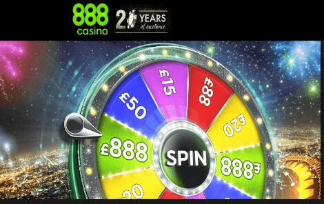 888 Casino Spin the Wheel to Win up to $888