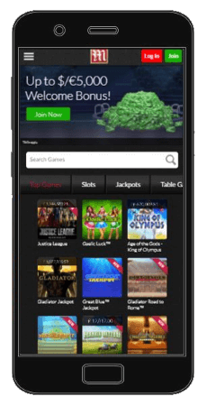 Get extra bonuses for playing using the Mansion Casino's mobile app